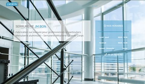 Site vitrine société JMBON