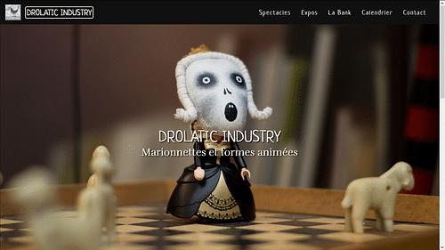 Site web de la compagnie Drolatic Industry - Création de site internet