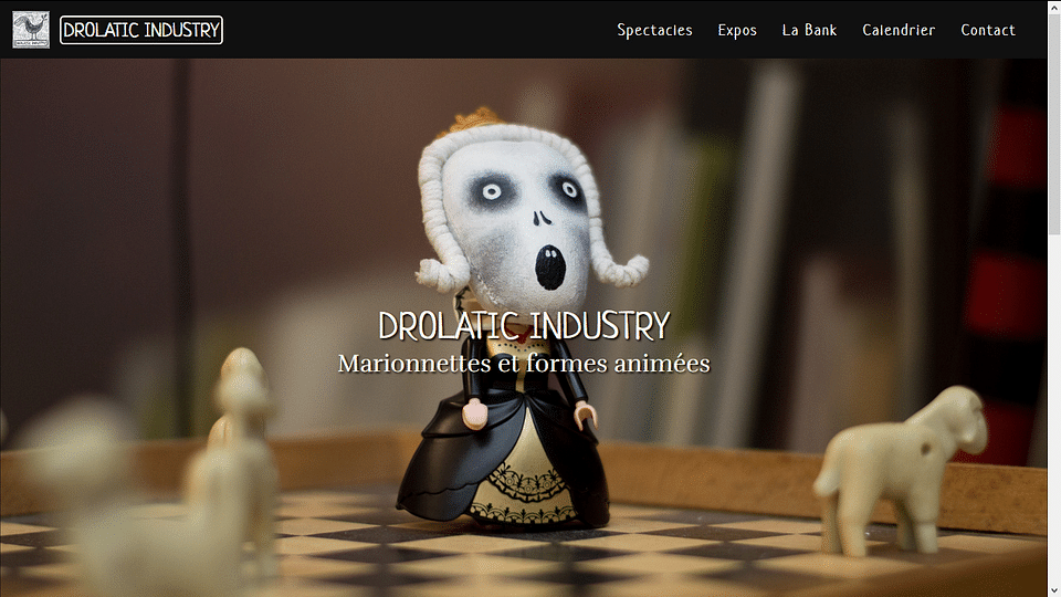 Site web de la compagnie Drolatic Industry