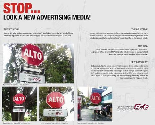STOP! LOOK A NEW ADVERTISING MEDIA - Advertising