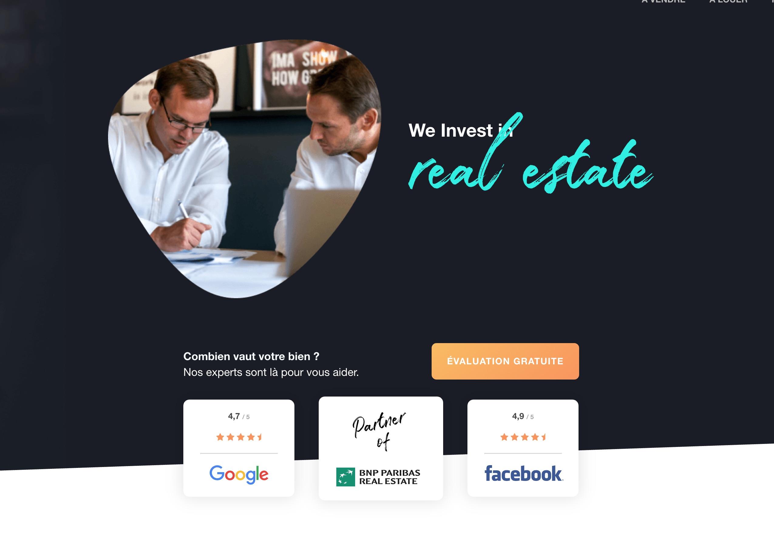 We Invest V2 - Création de site internet