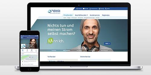 Stadtwerke Karlsruhe – Markenrelaunch Kundenzen... - Werbung