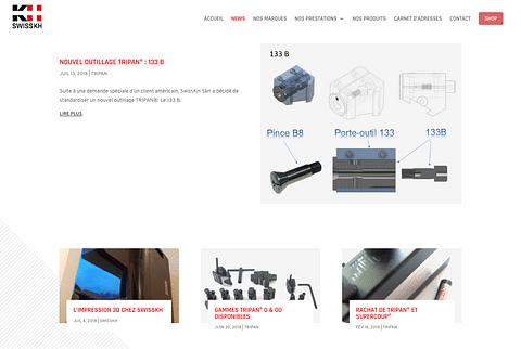SwissKH - Site Internet