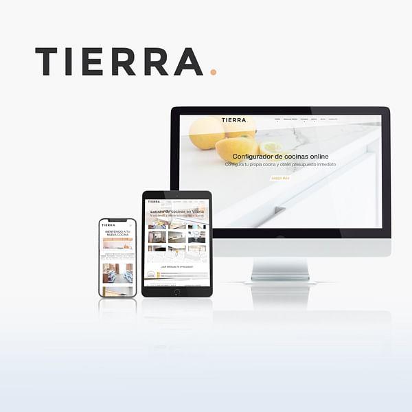 Imagen corporativa y sitio web: Tierra Home Design