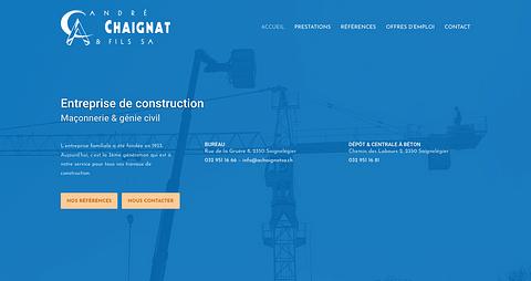 André Chaignat & Fils SA - Site Internet