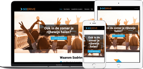 sodrive.nl - Webdesign + SEO - Website Creatie
