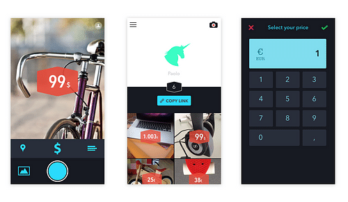 iOS & Android app - Pictasale - Application mobile