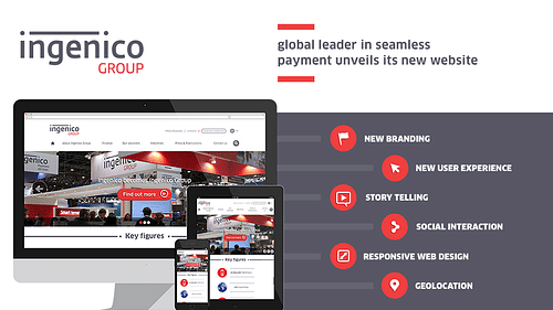 Ingenico - new website - Création de site internet