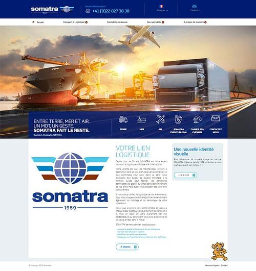 Somatra - Création de site internet