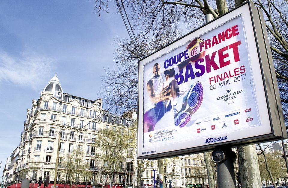 Campagne évènementiel Coupe de France de Basket