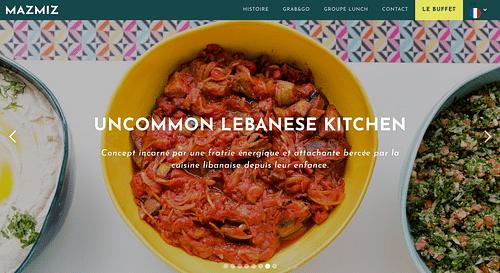 MazMiz - Uncommon Lebanese Kitchen - Création de site internet