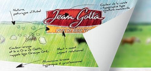 "LOGO & IDENTITÉ ""JEAN GOTTA"" - Image de marque & branding"