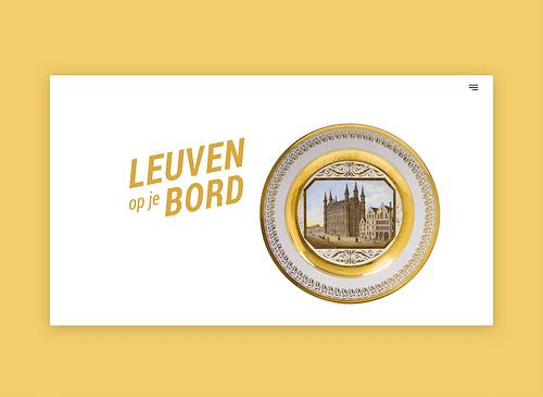 Leuven op je bord - Website Creatie