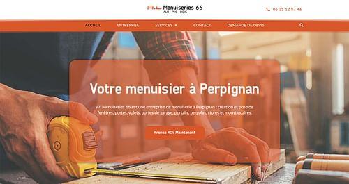 Création de site web A.L Menuiseries 66 - Création de site internet