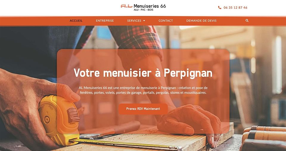 Création de site web A.L Menuiseries 66