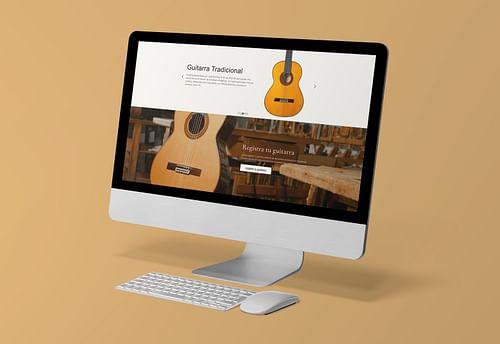 Desarollo web y tienda online Guitarras Ramirez - Diseño Gráfico