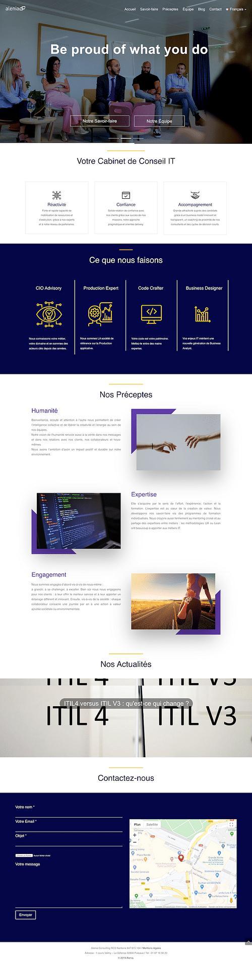 Alenia - Website - Website Creation