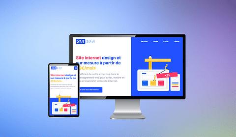 Design et Développement du site web 201Web.fr