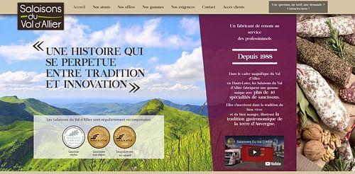 Refonte du site web de Salaisons Du Val d'Allier - Digital Strategy