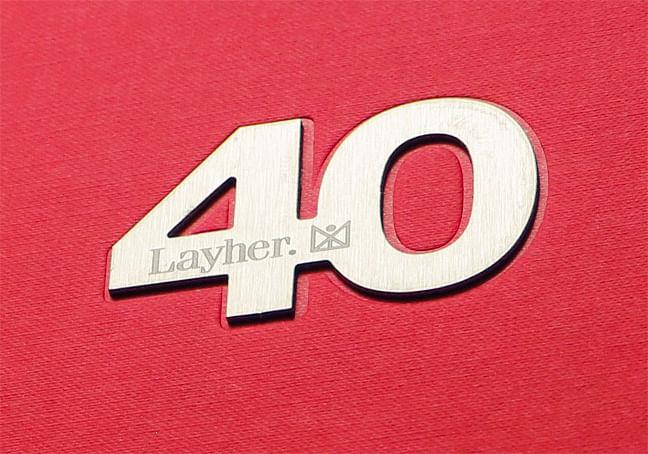 Conception d'un livre pour les 40 ans de Layher