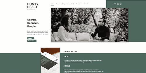 Website, Hunt & Hired - Website Creatie