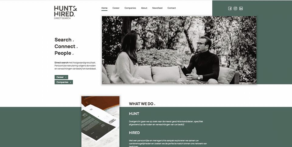 Website, Hunt & Hired