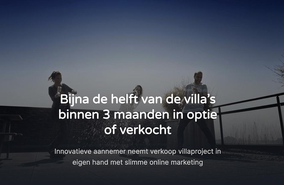 Online ondersteuning prestigieus villaproject