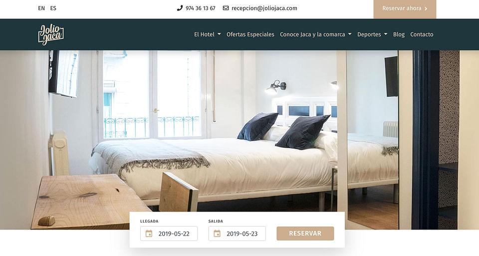 Desarrollo Web Hotel Jolio Jaca