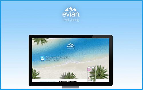 evian babies - Création de site internet