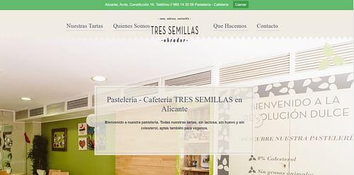 Crear página web para pastelería Tres Semillas - SEO