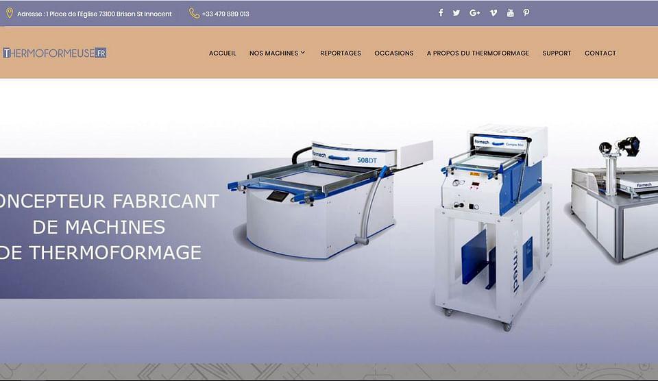 Création d'un site web de l'industrie du plastique