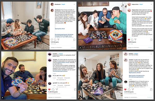Campaña de Navidad para Party&Co  (Intagramers) - Redes Sociales