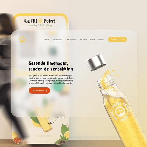 Dripl - Een smaakvolle website - Website Creatie