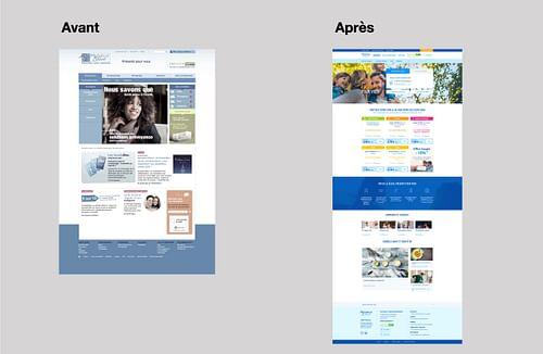 REFONTE l Refonte de site pour Mutuelle Bleue - Planification médias