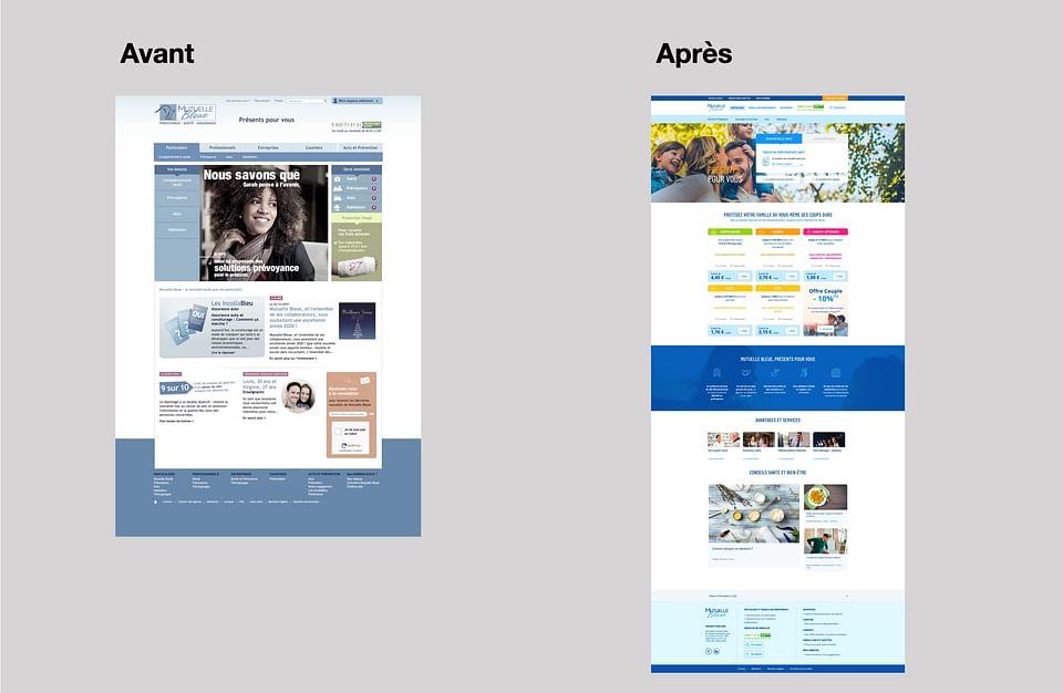 REFONTE l Refonte de site pour Mutuelle Bleue