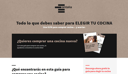 Marketing digital de Antalia Cocinas - Estrategia digital