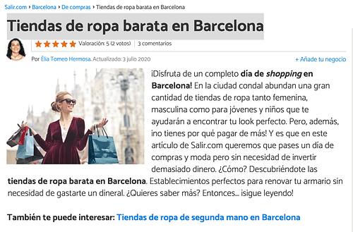 Tiendas de ropa barata en Barcelona - SEO