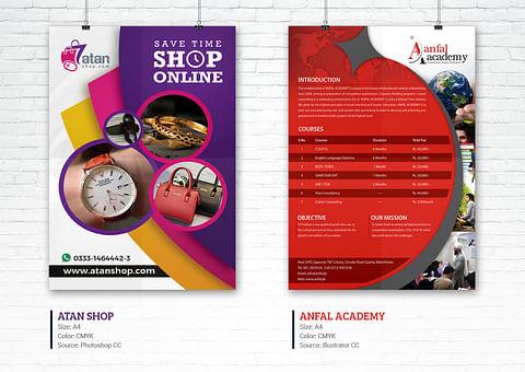 Creative Flyer Design for Atan Shop And Anfal Acad