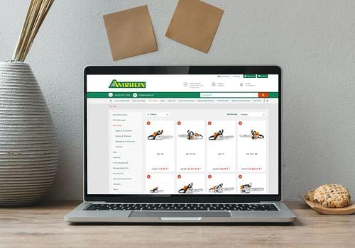 Onlineshop für Amrhein.de - E-Commerce