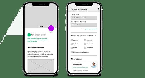 Application mobile d'aide à la vente - Application web