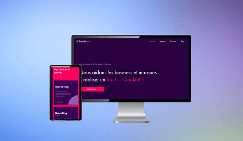 Développement site web Transfonum