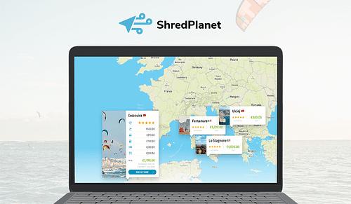 Shred Planet - easy way to find kite destinations - Website Creatie