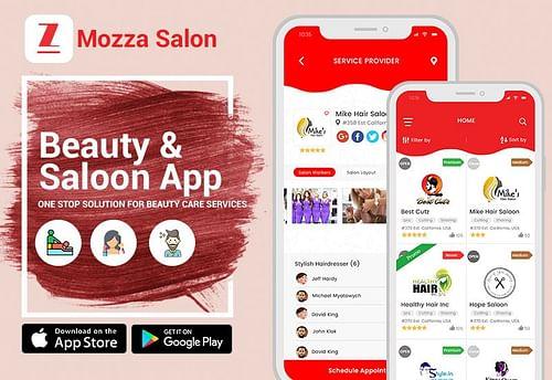 Mozza Salon - Beauty & Saloon App - Mobile App