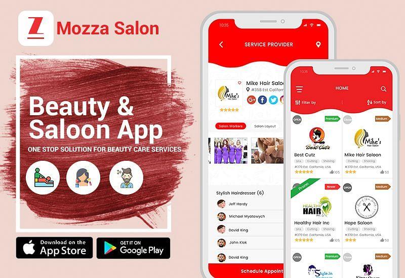 Mozza Salon - Beauty & Saloon App