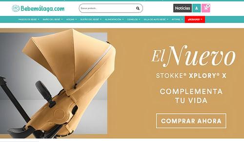 Diseño y desarrollo web para Bebemálaga - E-commerce