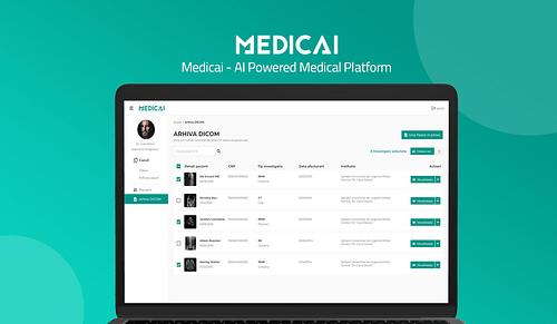 Medicai - AI Powered Radiology Platform - Web Applicatie
