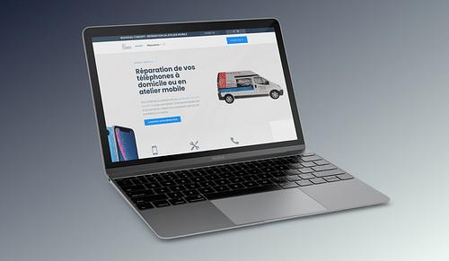 Site vitrine : réparation de téléphones à domicile - E-commerce