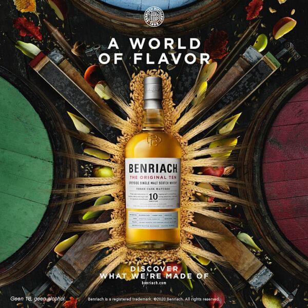 Branding campagnes Benriach en Jura