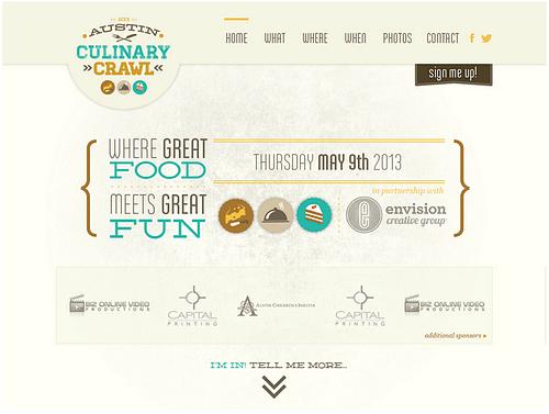 Website Design for Austin Culinary Crawl - Branding & Positioning