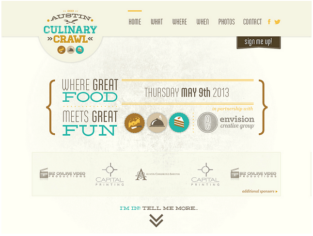 Website Design for Austin Culinary Crawl